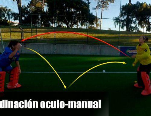 Portero de hockey hierba: coordinación oculo-manual