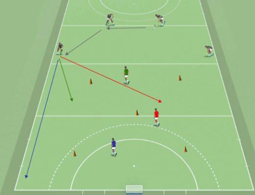 Rutas de bola hockey hierba: movimientos de delanteros