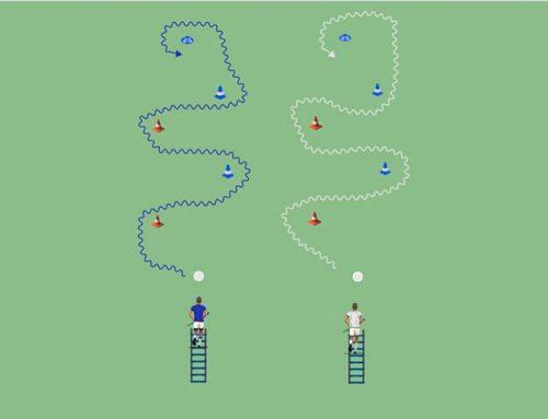 Escalera de coordinación + conducción con cambio de dirección